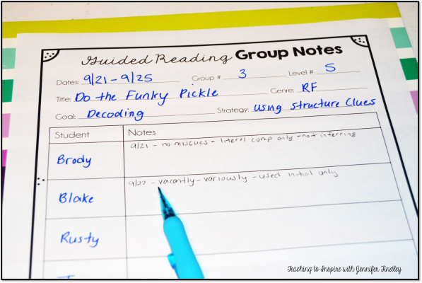 Make taking guided reading notes super easy with this free printable.