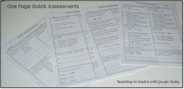 Math Common Core Assessments