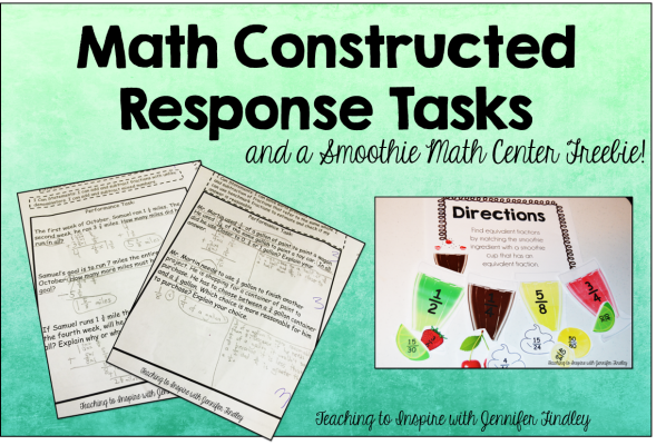 Constructed Response Math Tasks
