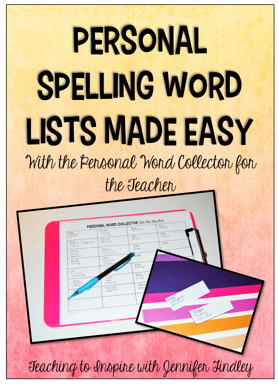 Personal Word Collector for the Teacher