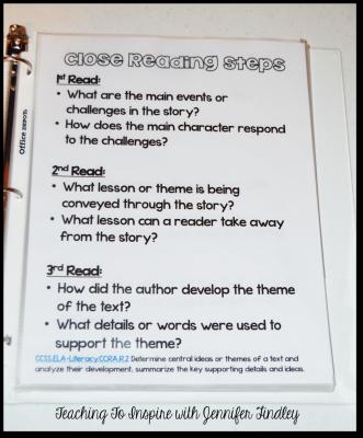 Close Reading Steps for Teachers