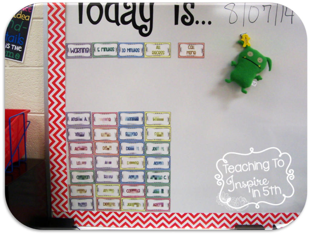5th Grade Back to School Classroom Management and Decor Freebie