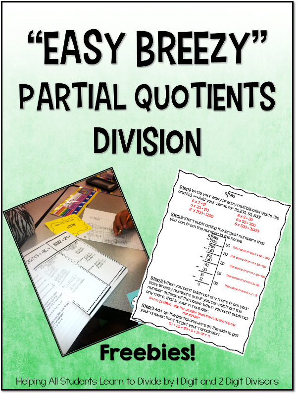 Partial Quotients Freebies