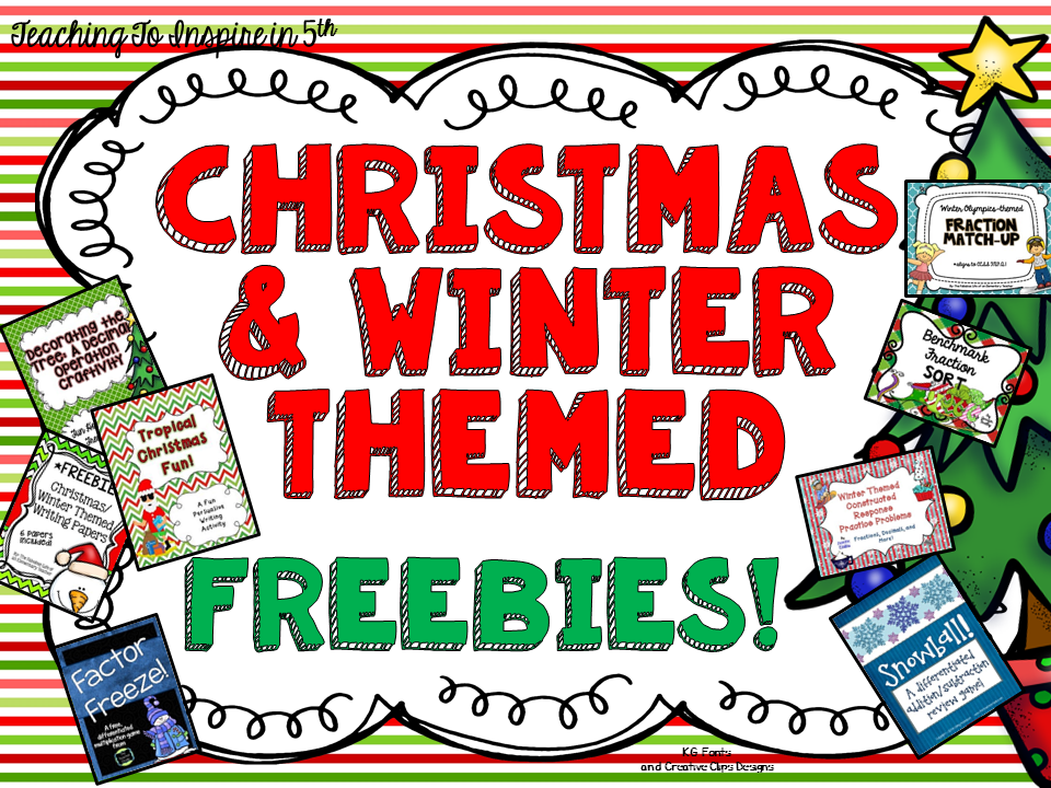 Christmas & Winter Freebies {EIGHT Freebies}