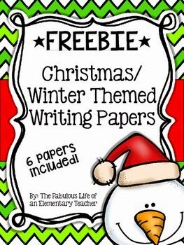 http://www.teacherspayteachers.com/Product/ChristmasWinter-Themed-Writing-Papers-FREEBIE-1570259