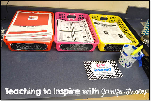 Organizing Papers in an Upper Elementary Classroom
