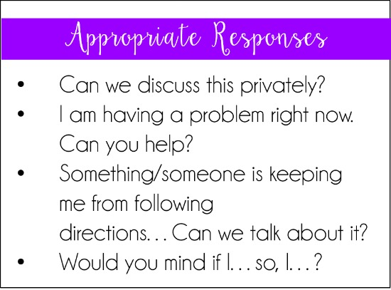 This post shares a simple, but effective strategy to stop students from arguing or talking back. This strategy is perfect for the first few weeks of school while you are building relationships.