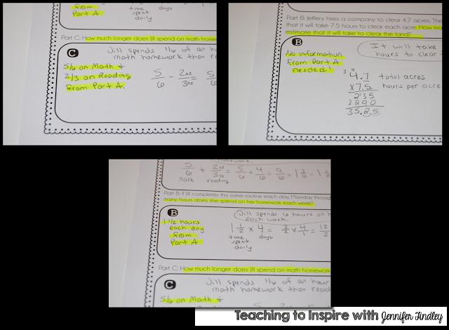 Solving Multi-Part Word Problems {Freebie Printable Chart}
