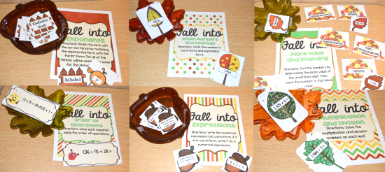 Fall Math Centers for 5th Grade