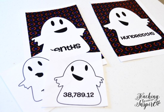 FREE Halloween Math Center for Reviewing Place Value...makes a great Halloween Math Activity!