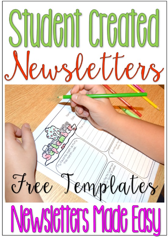 I have always struggled sending home newsletters. Why not have the students create the newsletters? Grab some free classroom newsletter templates that the students complete.