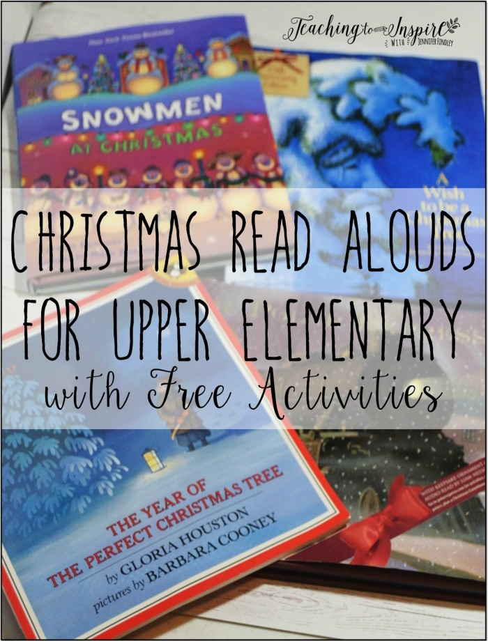 Christmas read alouds for upper elementary with free downloadable activities.