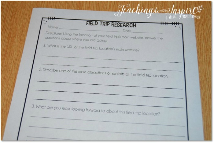 Free field trip resources to use before and after a school field trip.