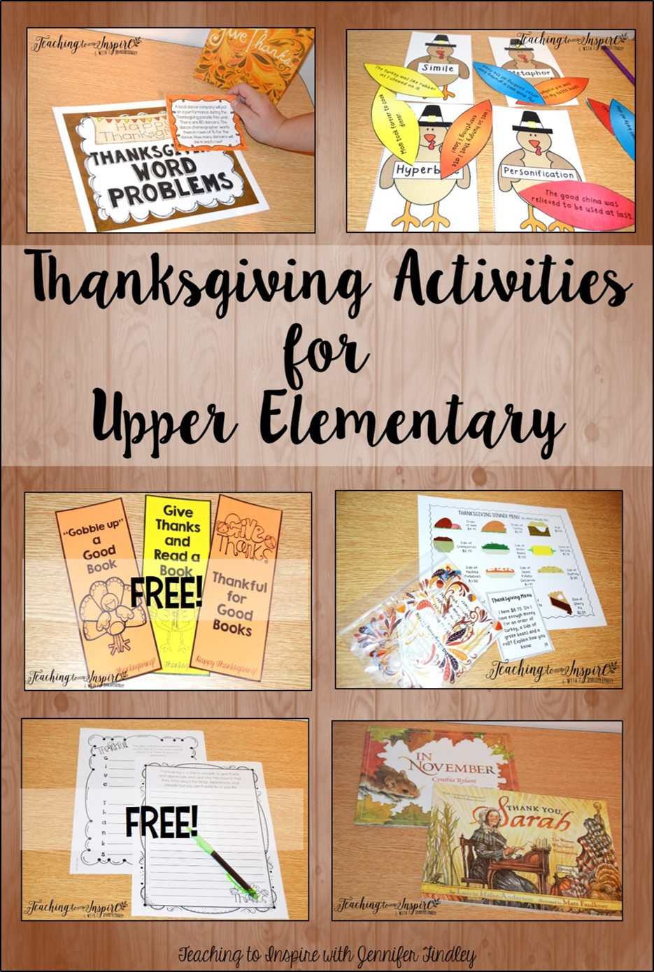 Thanksgiving Activities for Upper Grades