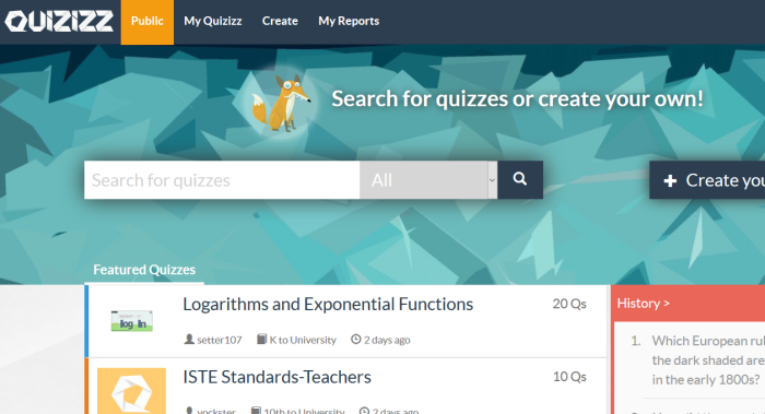 Learn about a self paced review game, Quizizz, on this blog post.