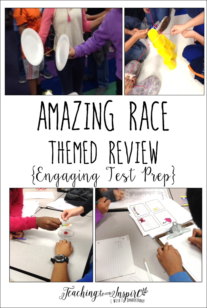 Amazing Race challenges are a super engaging way to review. Click through to read more about this fun test prep activity.