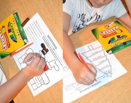 Christmas math printable activities for 5th grade