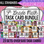 5th Grade Math Task Cards! This huge set includes task cards for all 5th grade common core state standards.