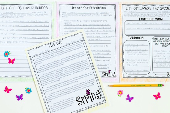 Spring reading activities that are perfect for keeping your students engaged and reviewing key reading standards