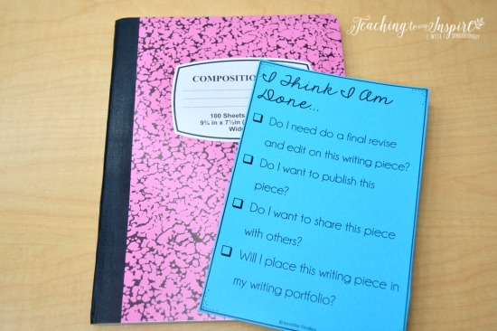 "Writing is never finished! Use this checklist to help your students know what to do when they are ""done writing."" Grab more early finisher activities on this post!"
