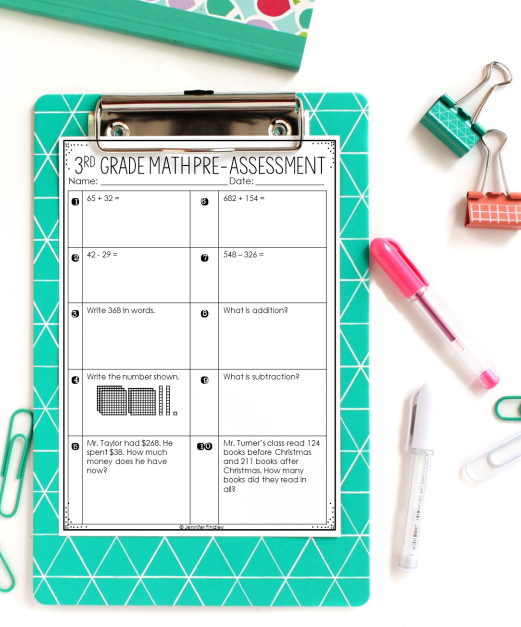 This is a photo of 5th Grade Math Assessment Test Printable within excel