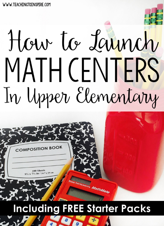 Do you want your guided math centers running smoothly from the start of the year to the end of the year? *raises hand*. Then, you need a strong launch. This post looks at important guidelines to follow when you launch guided math centers in your classroom AND links to example sequences for launching as well as FREE starter packs for grades 3-5.