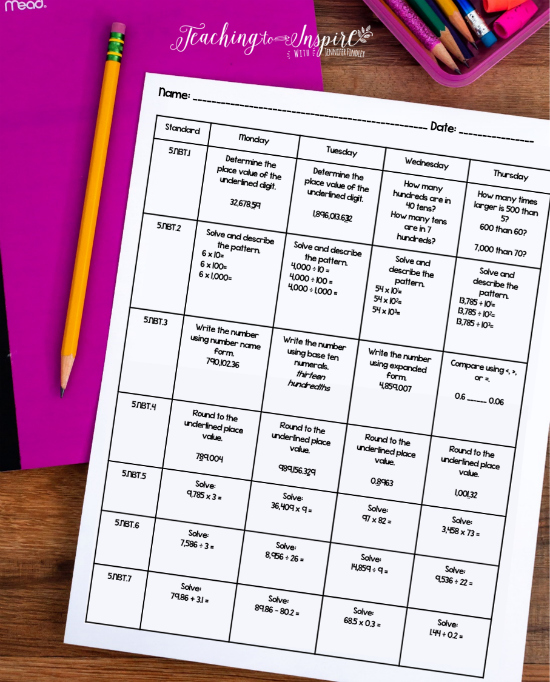 Domain or skill specific math reviews are the perfect way to spiral math skills that you know your students have been taught.