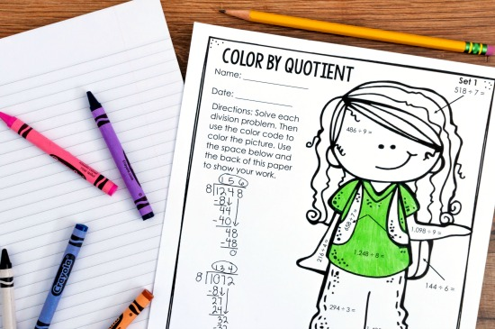 Engaging color by number activities are perfect to leave for sub days. Read more substitute tips on this post.