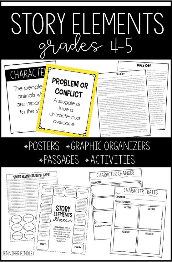 Everything you need to teach and practice story elements. Follow this link for story element mentor texts suggestions and a huge resource available.