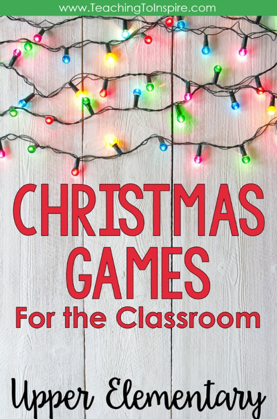 This blog post shares Christmas games for the classroom that are perfect for 4th and 5th grade students.