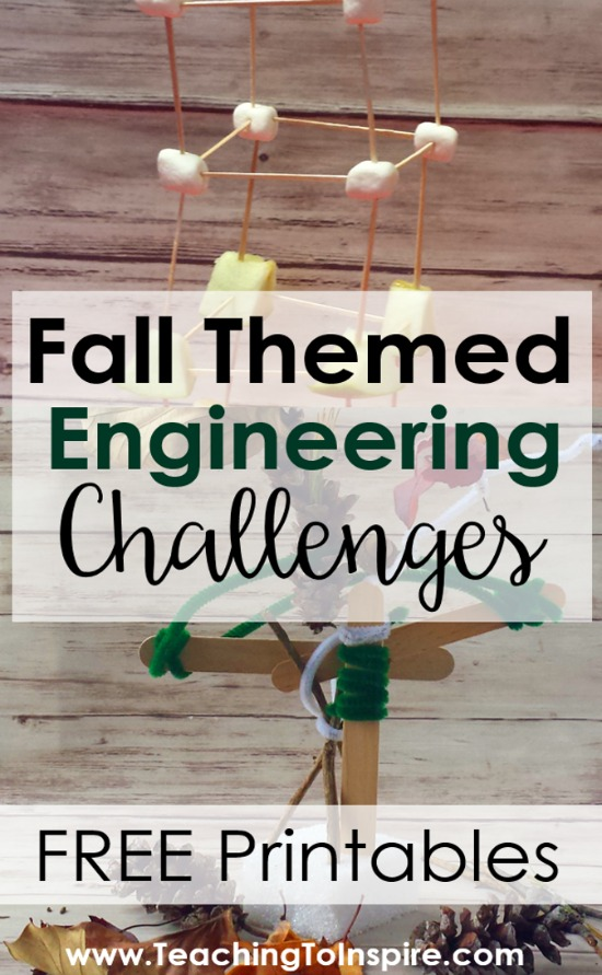 Fall Engineer Activities with directions and free printables! These engineering activities are perfect for upper elementary classrooms. Use the holidays and seasons to sneak in those valuable engineering tasks that promote creativity, teamwork, critical thinking, and so much more!