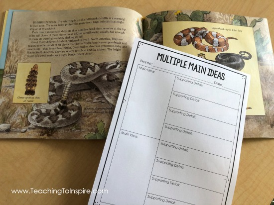 Check out this post for main idea mentor texts and read alouds for teaching main idea. The post also includes tips for introducing and teaching main idea to upper elementary students.
