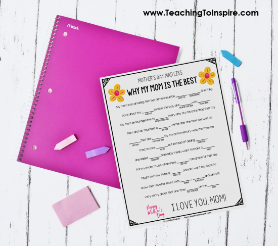 Mad Libs are so much fun. Use this FREE Mother's Day mad lib to double as a parts of speech review and fun Mother's Day gift.