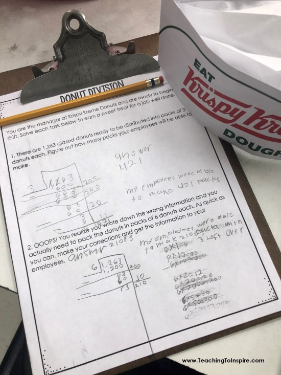 If you teach division and want to spice up your division practice, check out this post for donut themed printables and freebies!