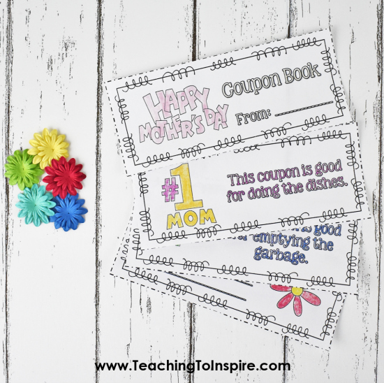Coupon books are one of my favorite Mother's Day gift ideas. Read more about this coupon and other ideas for Mother's Day gift ideas on this post.