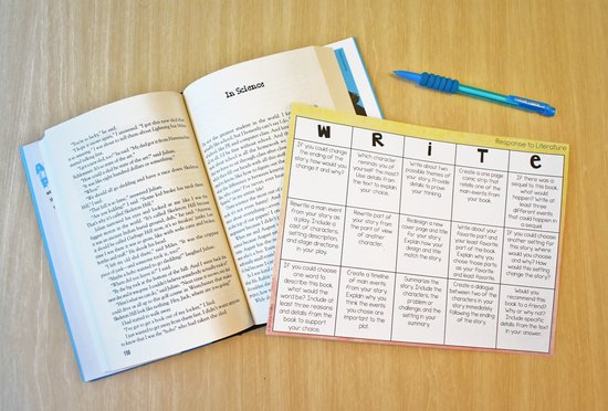 Choice boards are perfect for write about reading. Read more about these and other ideas for reader's response on this post.