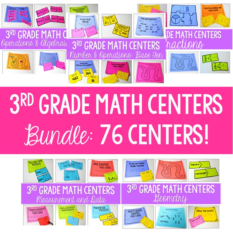 3rd grade math centers for the ENTIRE year!!