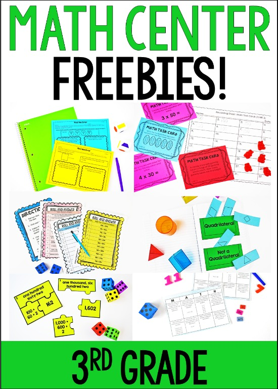 Free math centers for 3rd grade! Click through to download lots of 5th grade math centers to try out in your classroom!