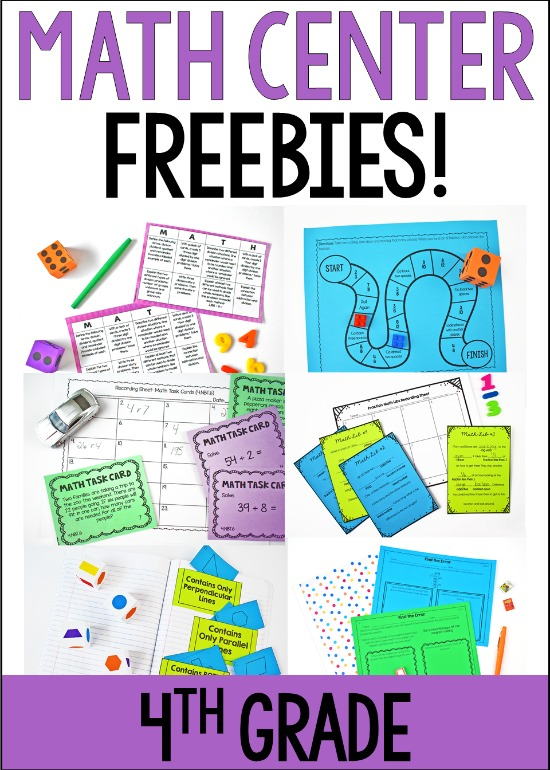 Free math centers for 4th grade! Click through to download lots of 5th grade math centers to try out in your classroom!
