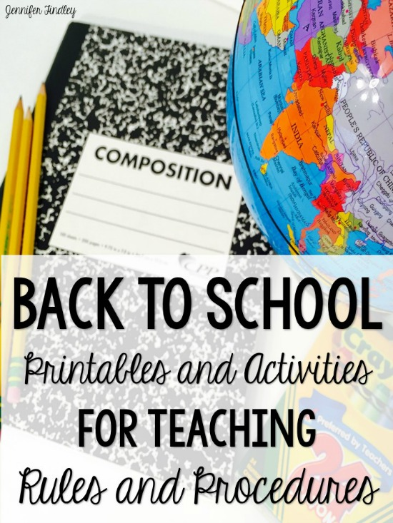 Back to school activities for teaching rules and procedures