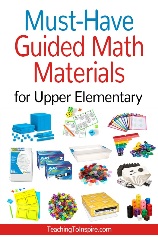 Guided math is a great way to reach all of your students. Check out my must-have guided math materials (and some that are just nice to have) on this post!