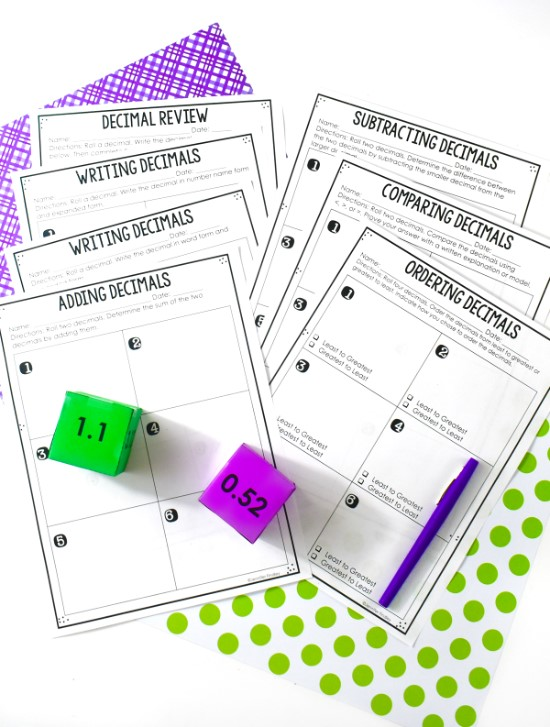 Need More Decimal Activities and Math Centers?