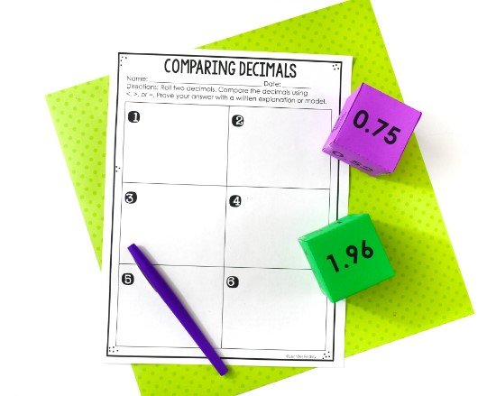 comparing-decimals-activities