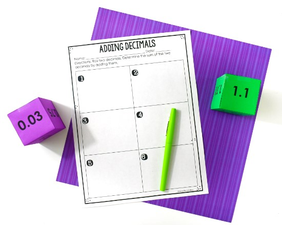 adding-decimals-activities