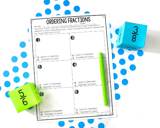FREE fraction activities available on this post!