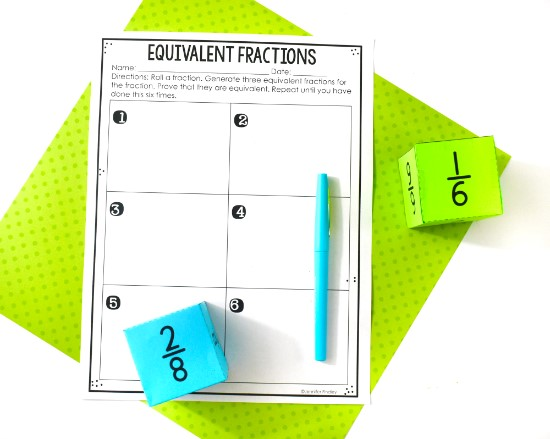 FREE fraction printables available on this post!
