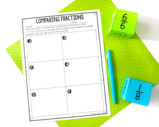 FREE fraction math centers available on this post!