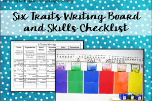 6 Traits Writing Board *Cafe Inspired* and Checklist