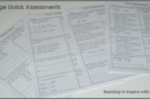 Math Common Core Assessments and  a Fun Idiom Freebie