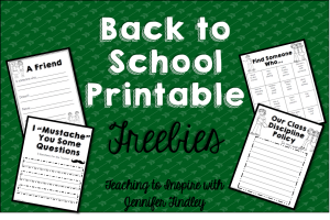 Back to School Activities {Free}